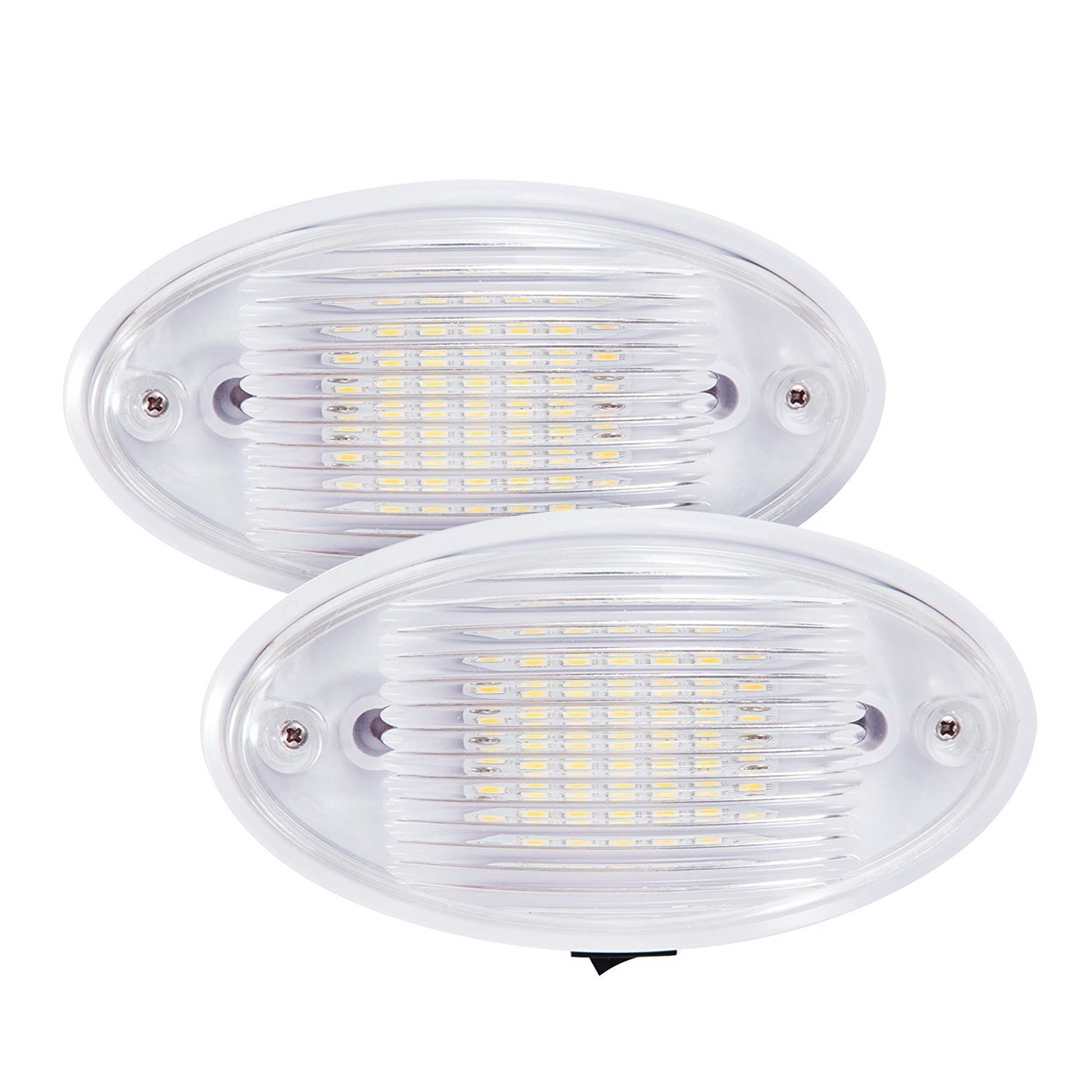 2x LED Ceiling Porch Light Fixture 12V RV Interior