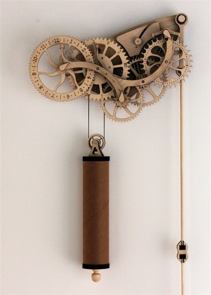 Abong DIY Laser Cut Wooden Wheeled Mechanical Pendulum Handcrafted Clock Kit   eBay