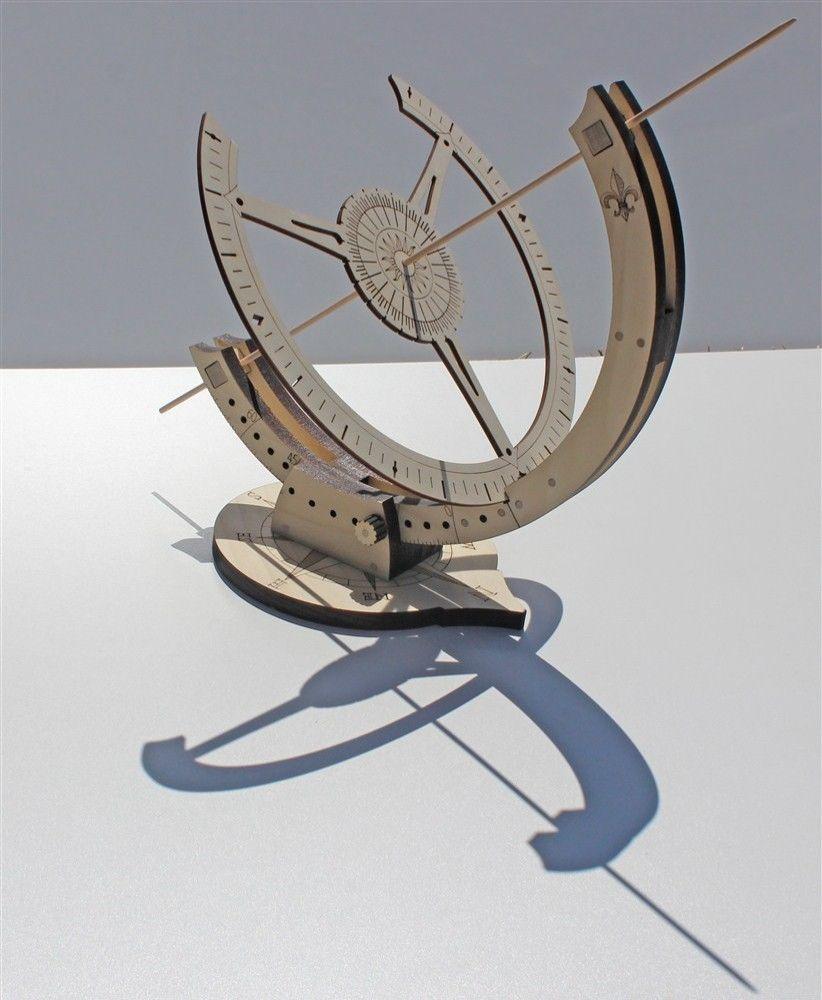 Abong Diy Equatorial Sundial Clock Kit Laser Cut Wood With