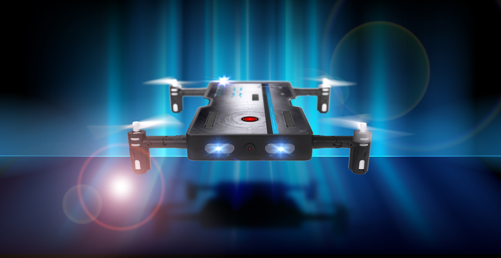 The Real Pocket Drone NX with HD Video Camera Records Indoor