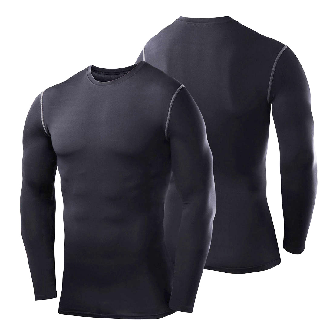 Mens under compression body armour base layer thermal skin for Mens black thermal t shirts