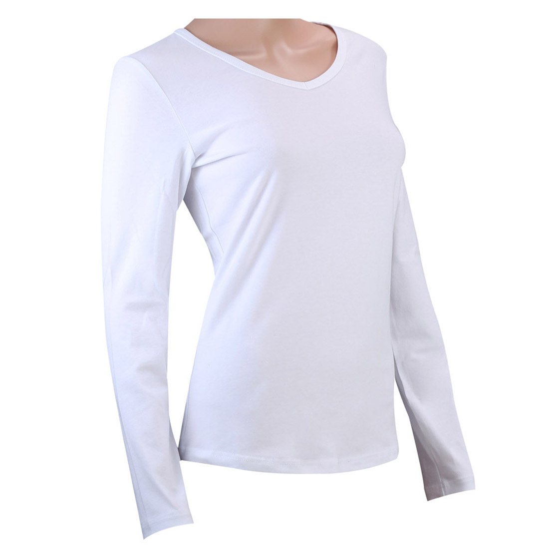 100 cotton womens long sleeve t shirt ladies t shirts for Women s 100 cotton long sleeve tee shirts