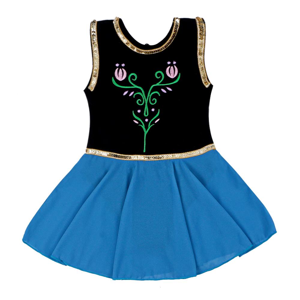 Girls Sequin Mermaid Ballet Leotard Tutu Dress Gymnastics Skate ...