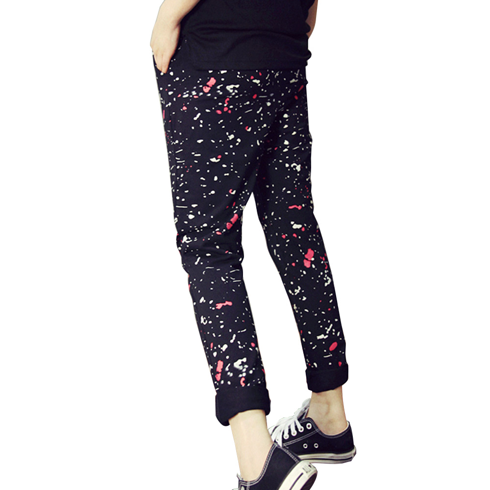 youth girls sports sweatpants jogging patchwork hip hop
