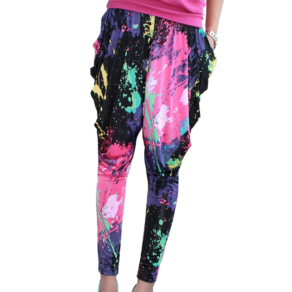 kids girls baggy harem pants hip hop dance jogging