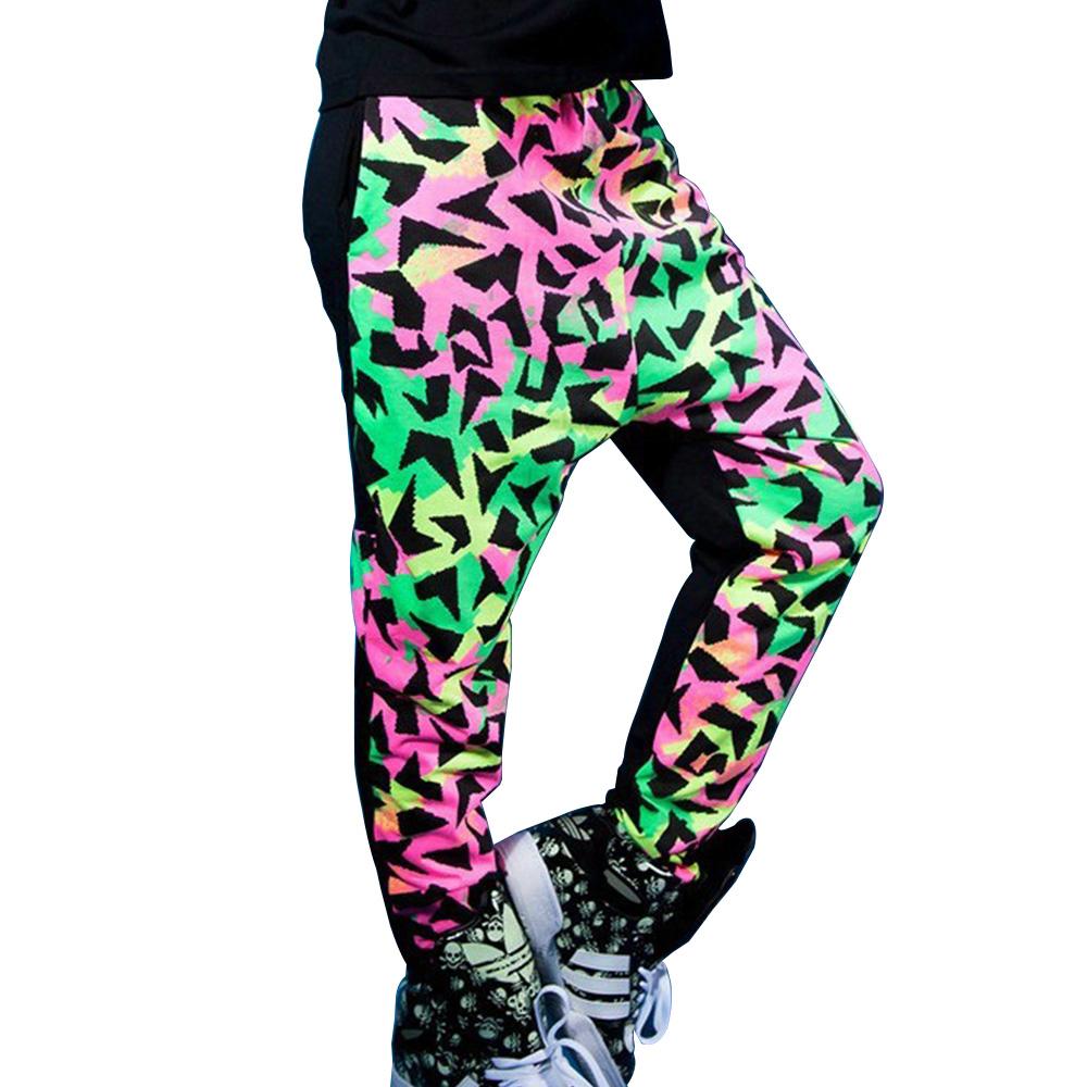 Kid-Girl-Loose-Sports-Colorful-Pants-Adult-Sweatpant-Harem-Hip-Hop-Dance-Costume