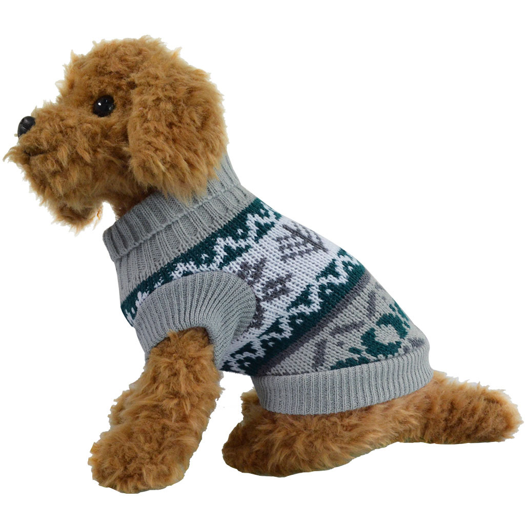 Knitting Dog Clothes : Small cat dog warm sweater knit coat xmas tree pet clothes