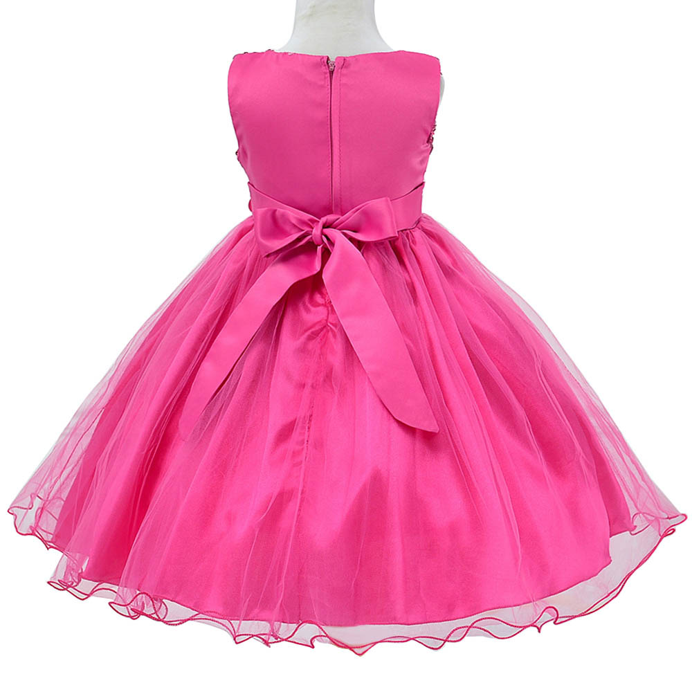 Little Girls Sequin Princess Bridesmaid Wedding Dress Christmas Party Gown 6M 3Y