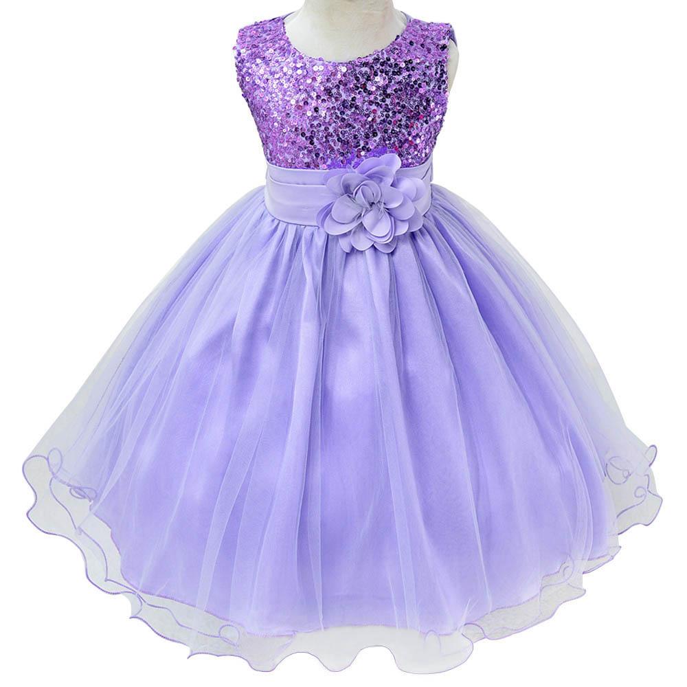 Kids sleeveless flower girl wedding party dress princess for Toddler girl wedding dresses