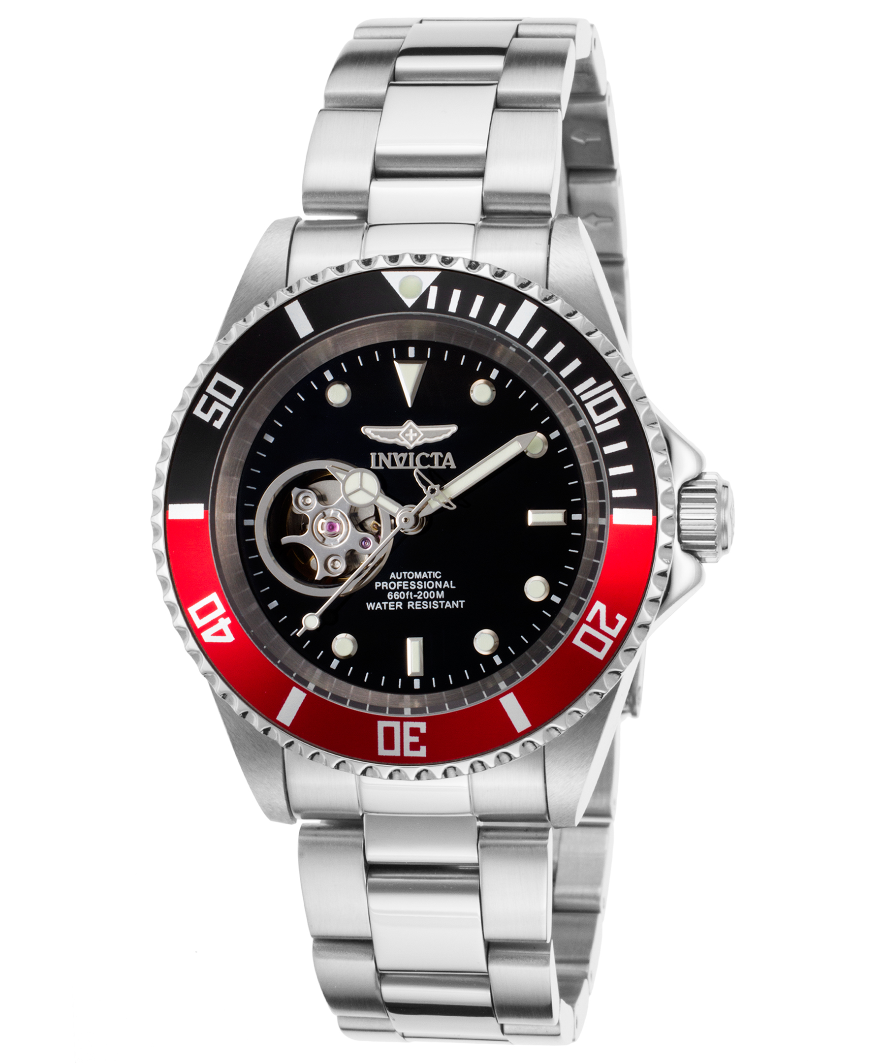 invicta men 039 s pro diver black dial steel bracelet automatic invicta men 039 s pro diver black dial