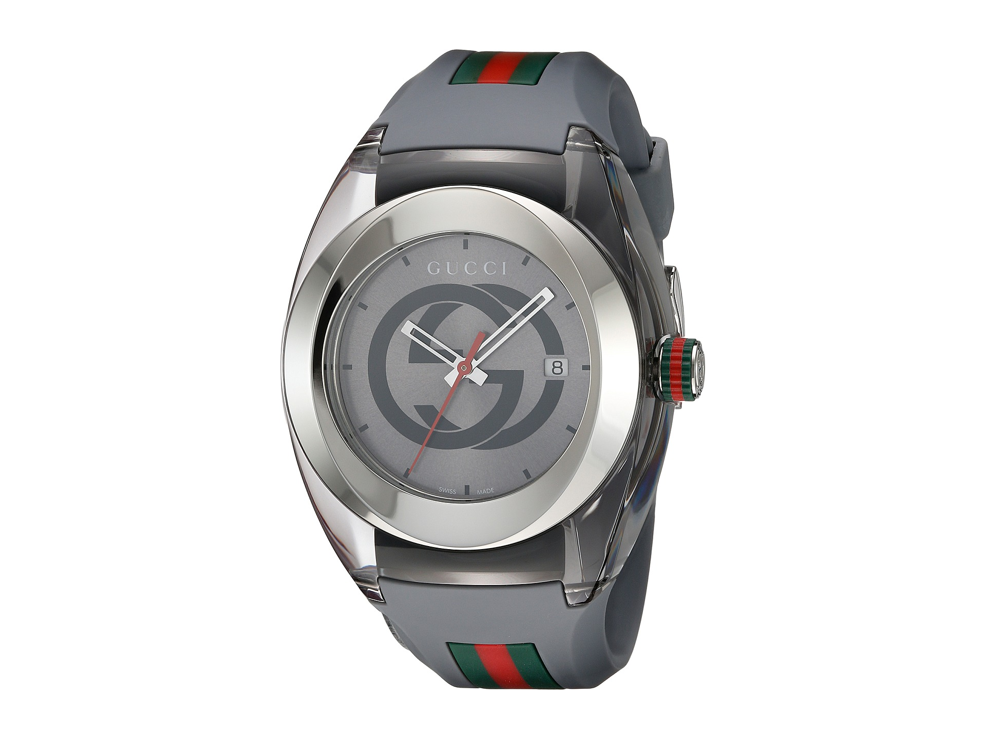 Brand new gucci sync xxl mens stainless steel watch with rubber strap ebay for Rubber watches