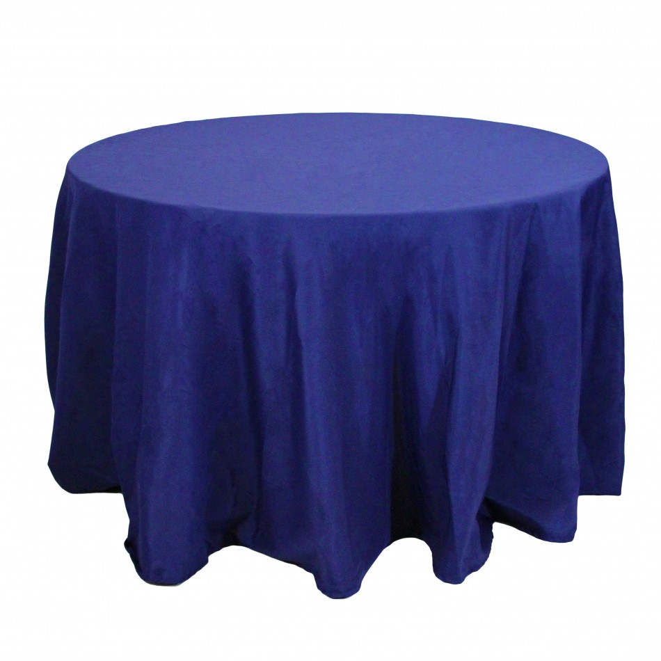 Koyal wholesale round polyester tablecloth 120 inch navy for 120 round table cloths