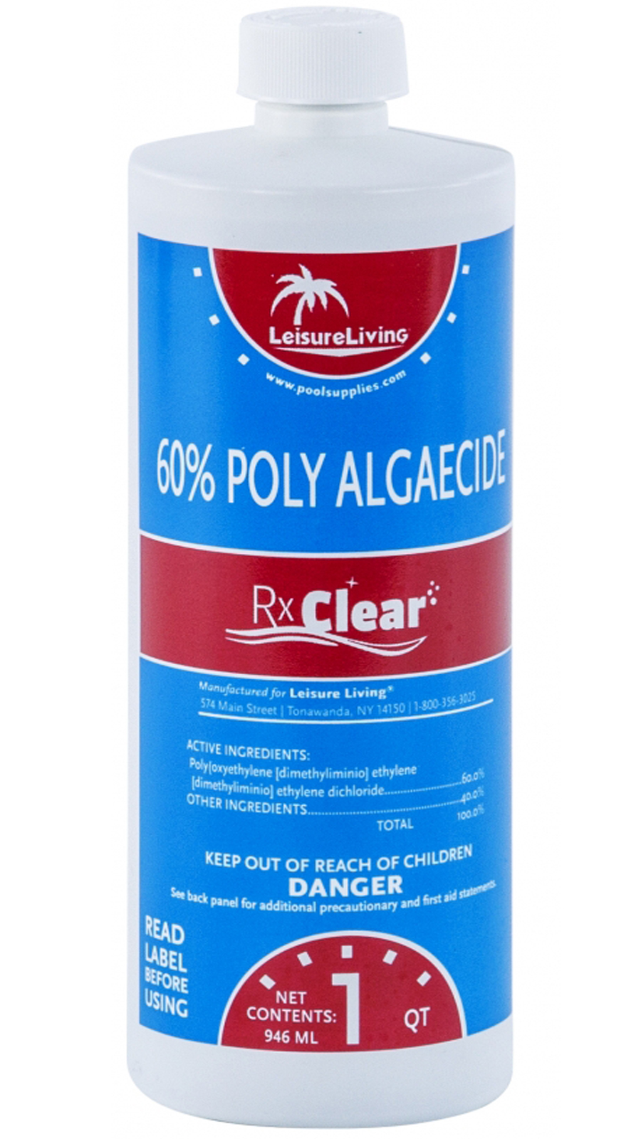 2 Pack Rx Clear Algaecide 60 Plus Prevents Algae Swimming Pool Chemical 1 Qt Ebay