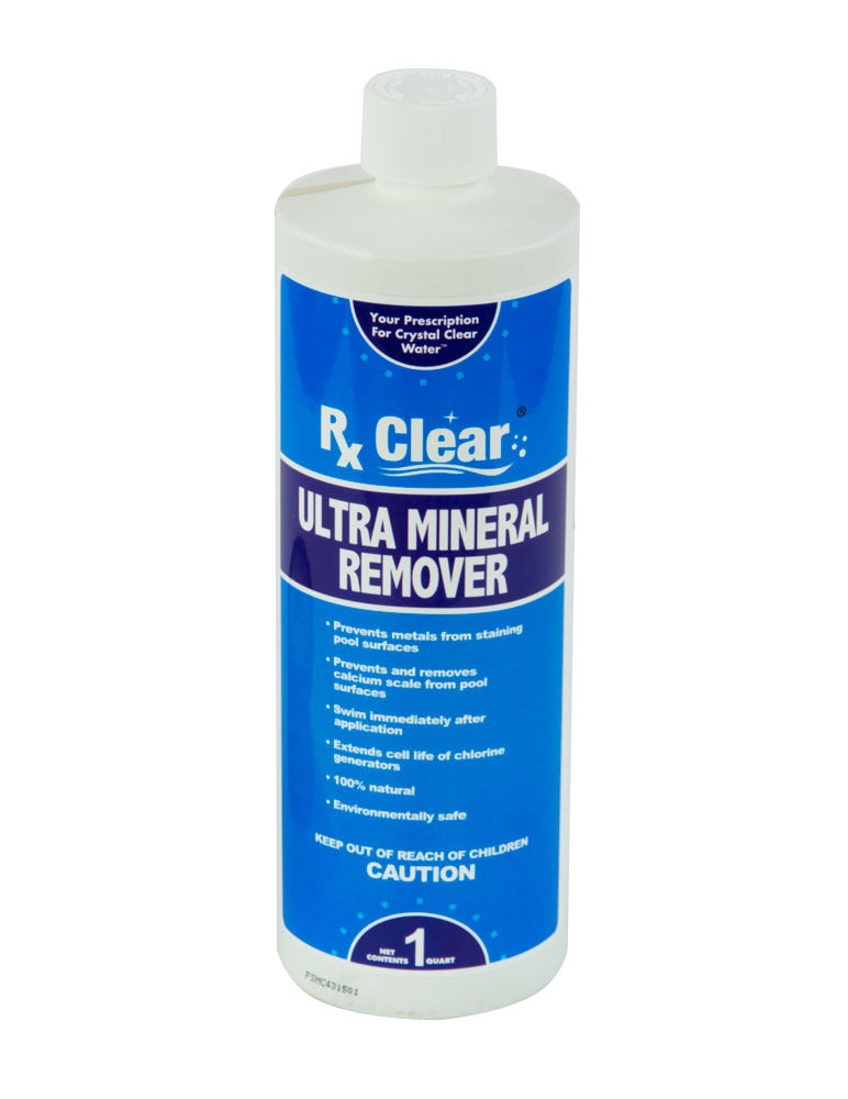 Rx Clear Ultra Mineral Amp Stain Remover 1 Quart Swimming