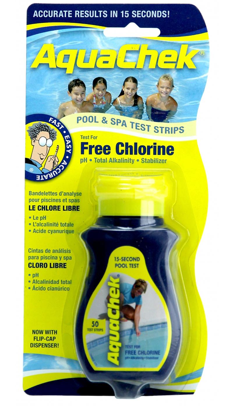 Aquachek 511244a 4 In 1 Chlorine Swimming Pool And Spa Test Strips 50 Pack Ebay
