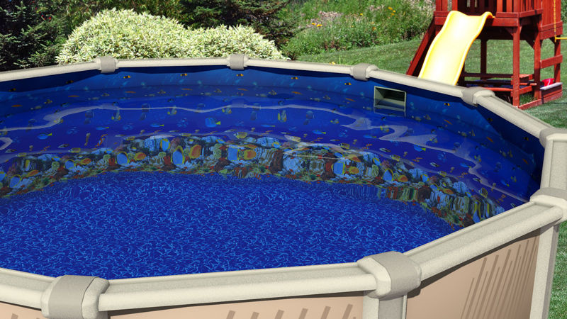 12 39 ft round overlap caribbean above ground swimming pool for 12 ft garden pool