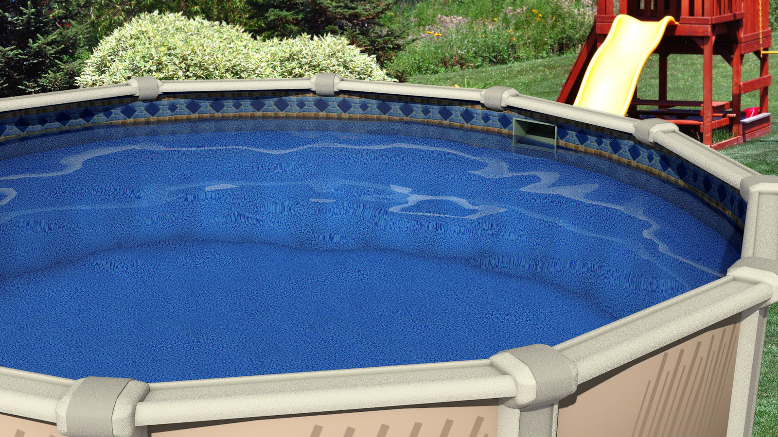 15 ft round unibead 52 inch swimming pool liner 25 gauge for Swimming pool liners
