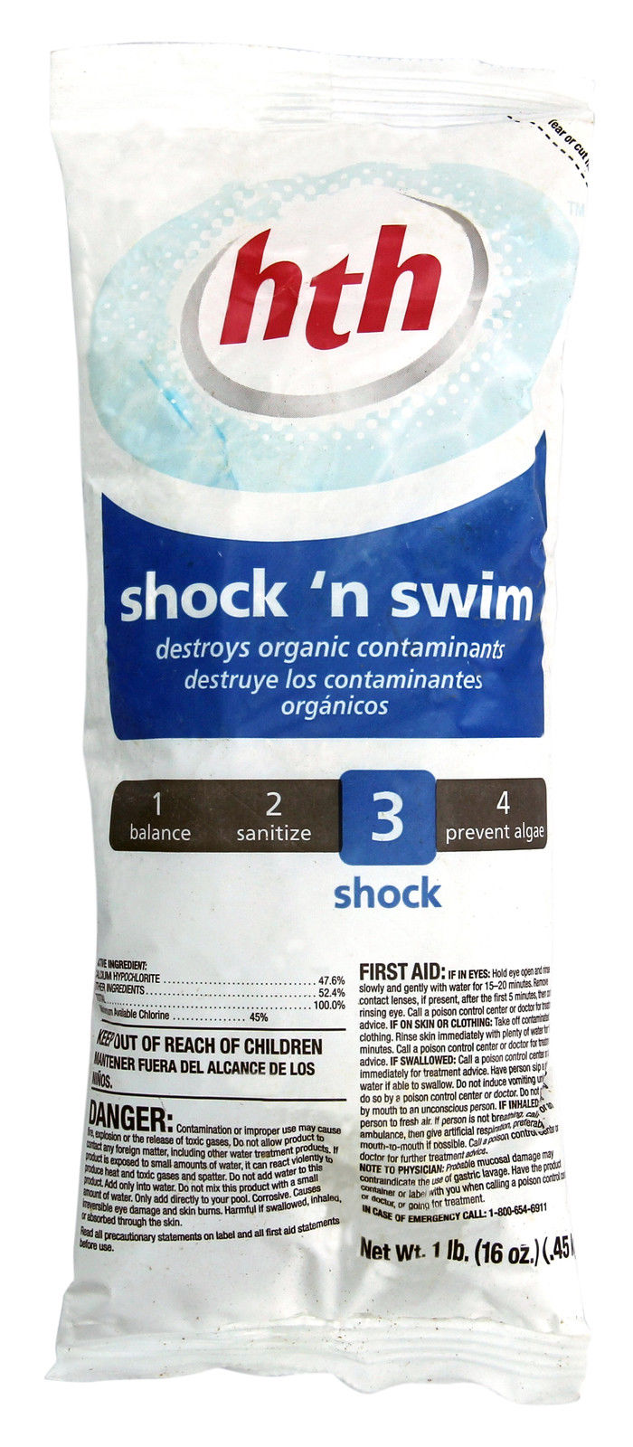 Hth shock n swim calcium hypo swimming pool chlorine shock - Dangers of chlorine in swimming pools ...