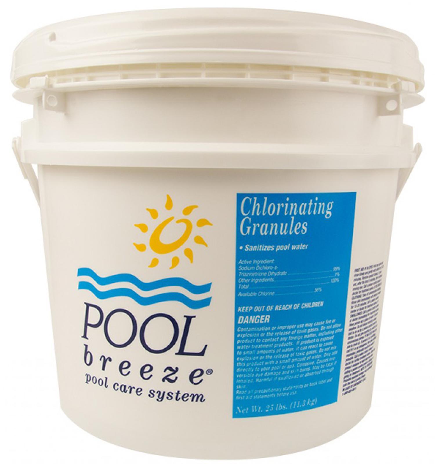 Pool Breeze Sodium Di Chlor Granular Swimming Pool Chlorine Chemical 25 Lbs Ebay