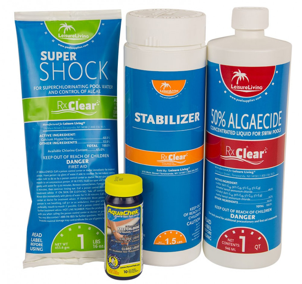 Spring swimming pool start up opening chemical kit for pools up to 7 500 gallons ebay for How to open a swimming pool in the spring