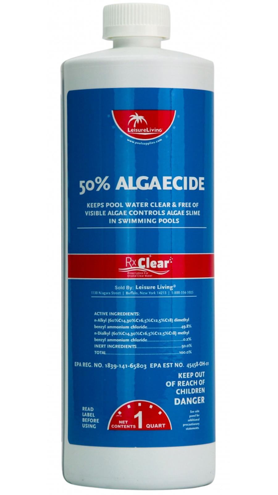 Rx Clear Algaecide 50 Plus Prevents Algae Swimming Pool Chemical 2 X 1 Quarts Ebay