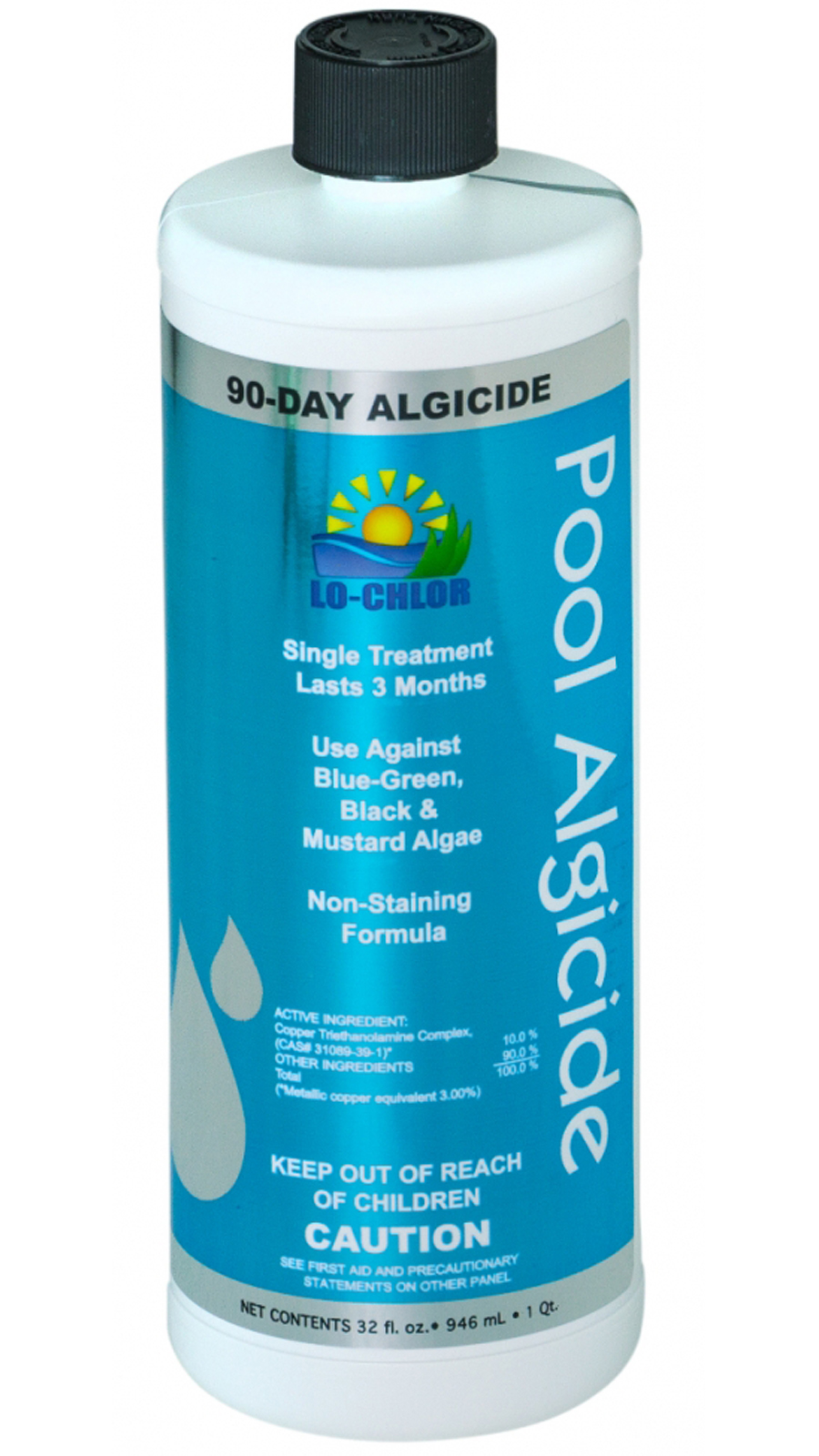 12 Pack Lo Chlor 90 Day Algaecide For Swimming Pools Last 3 Months 1 Quart Ebay