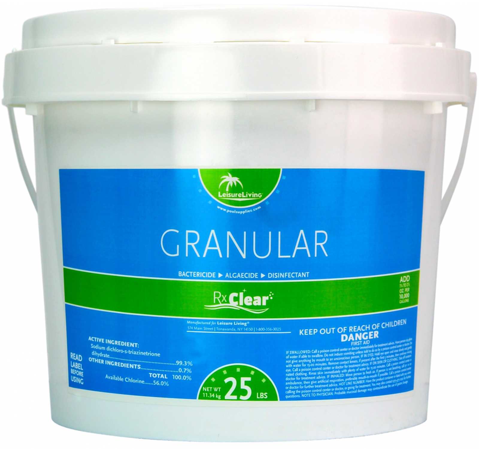 Rx Clear 99 3 Sodium Di Chlor Granular Swimming Pool Chlorine 25 Lbs Ebay
