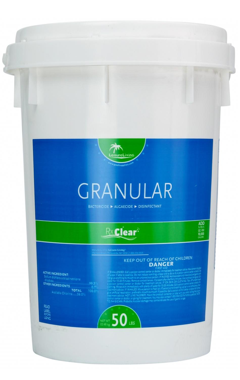 Rx Clear 99 3 Sodium Di Chlor Granular Swimming Pool Chlorine 50 Lbs Ebay