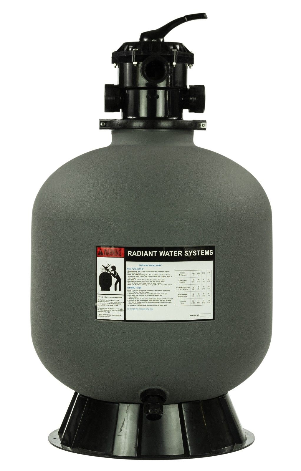 Rx Clear Radiant 24 Inch In Ground Swimming Pool Sand Filter W 6 Way Valve Ebay