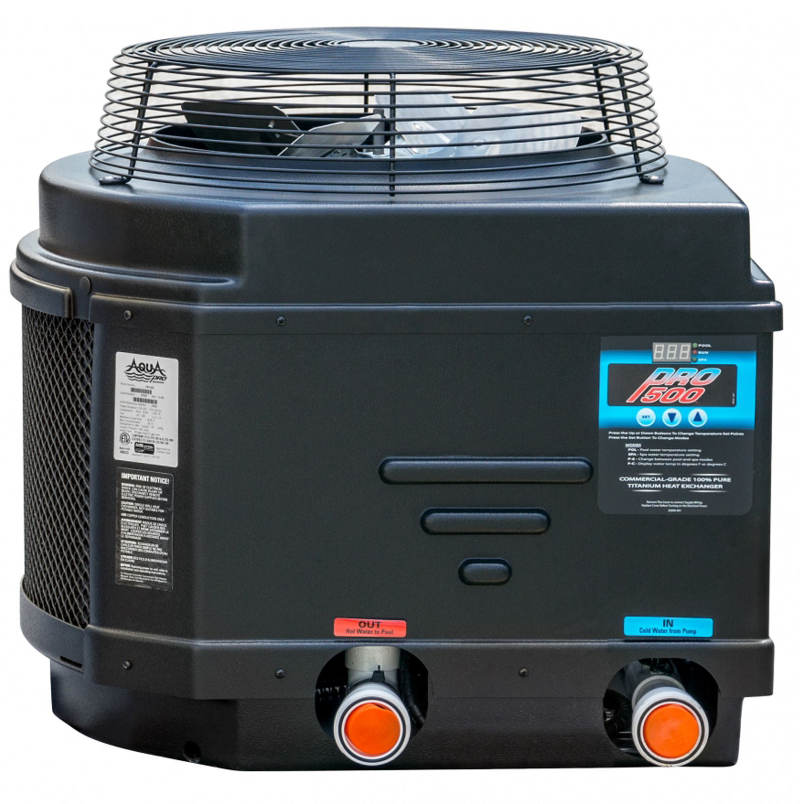 Aquapro Pro500 50 000 Btu Above Ground Swimming Pool Heat