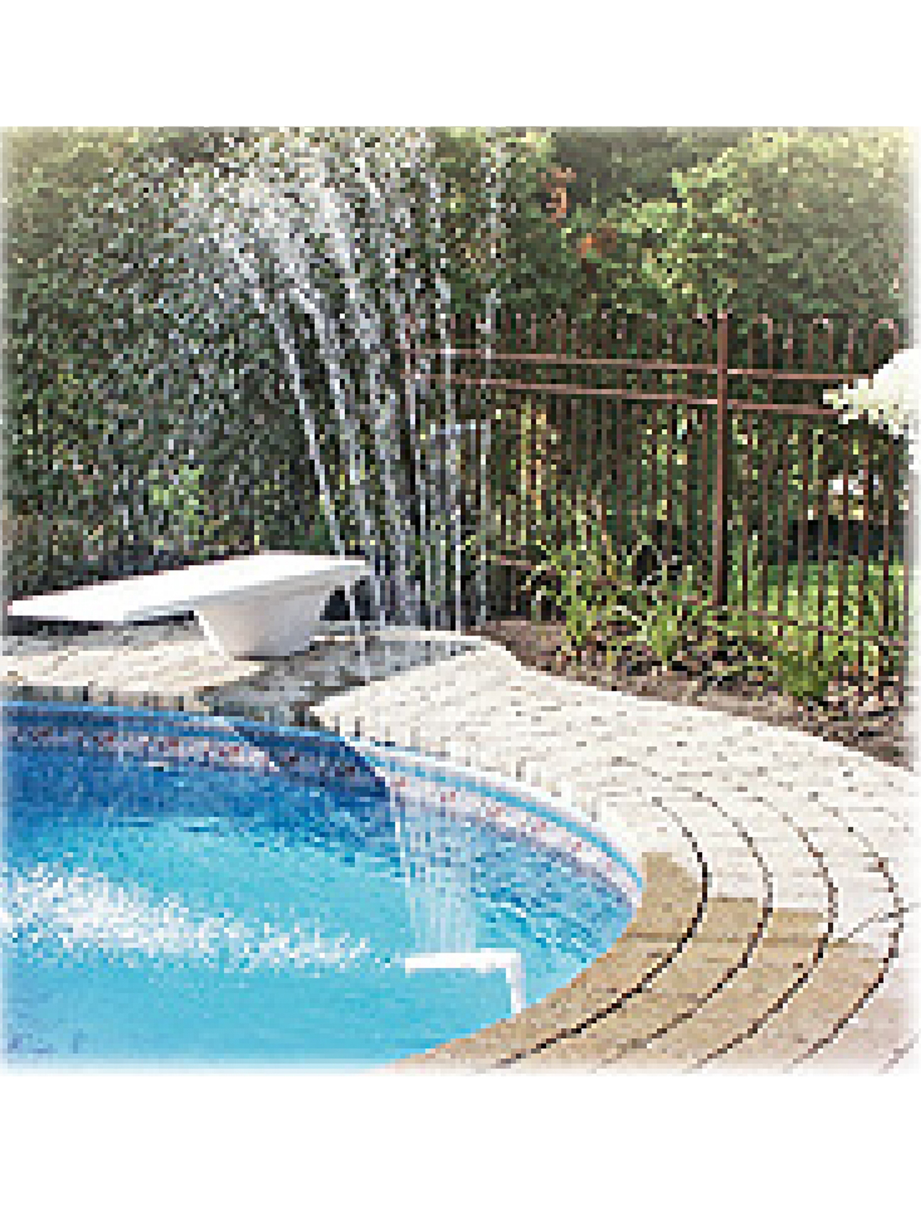 Above Ground Wonder Pool Swimming Pool Fountain For Steel Wall Pools Ebay