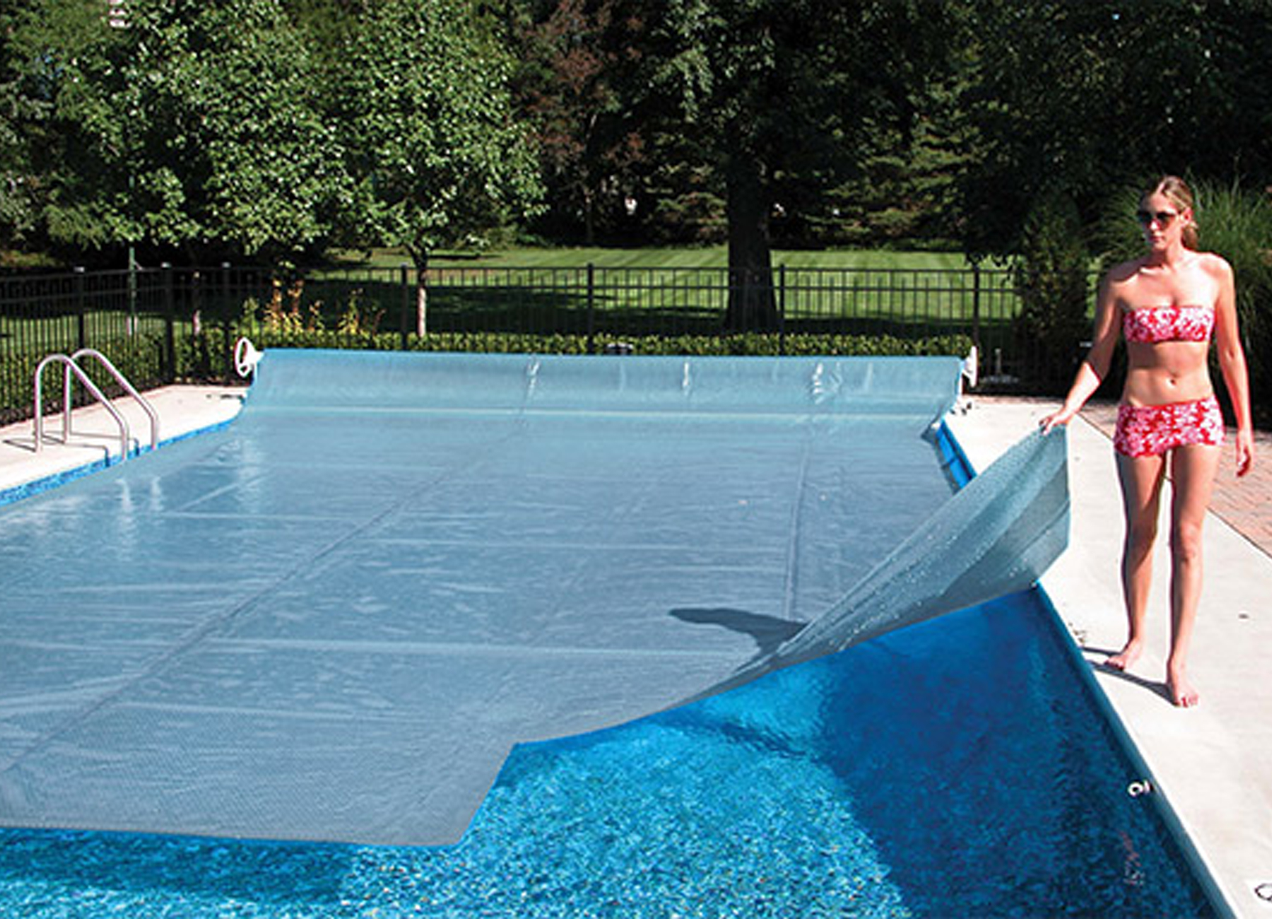 12x24 Rectangle Clear Diamond Inground Swimming Pool Solar Cover Blanket 16 Mil Ebay