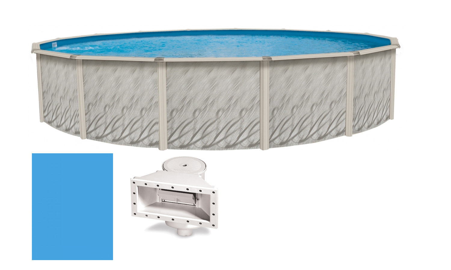 27 39 X52 Ft Round Meadows Above Ground Steel Frame Swimming Pool Liner Kit Ebay