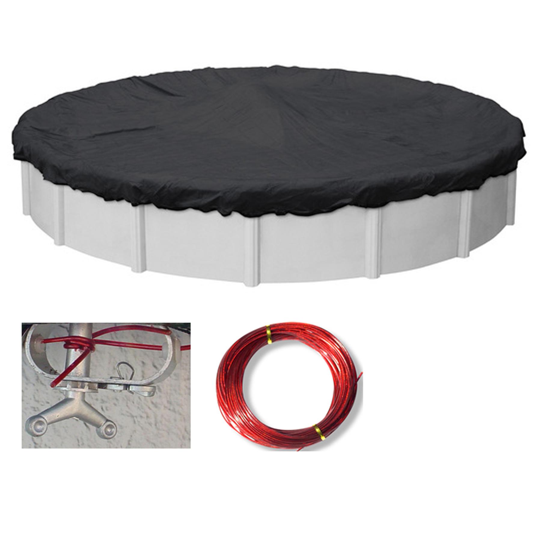 21 Ft Round Micro Mesh Above Ground Swimming Pool Winter Cover Ebay