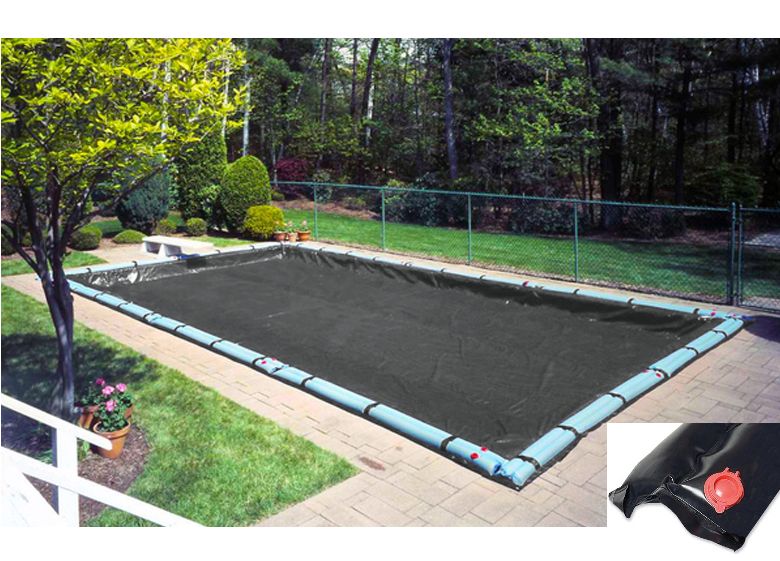 12 X20 Rectangle Black Micro Mesh Swimming Pool Winter