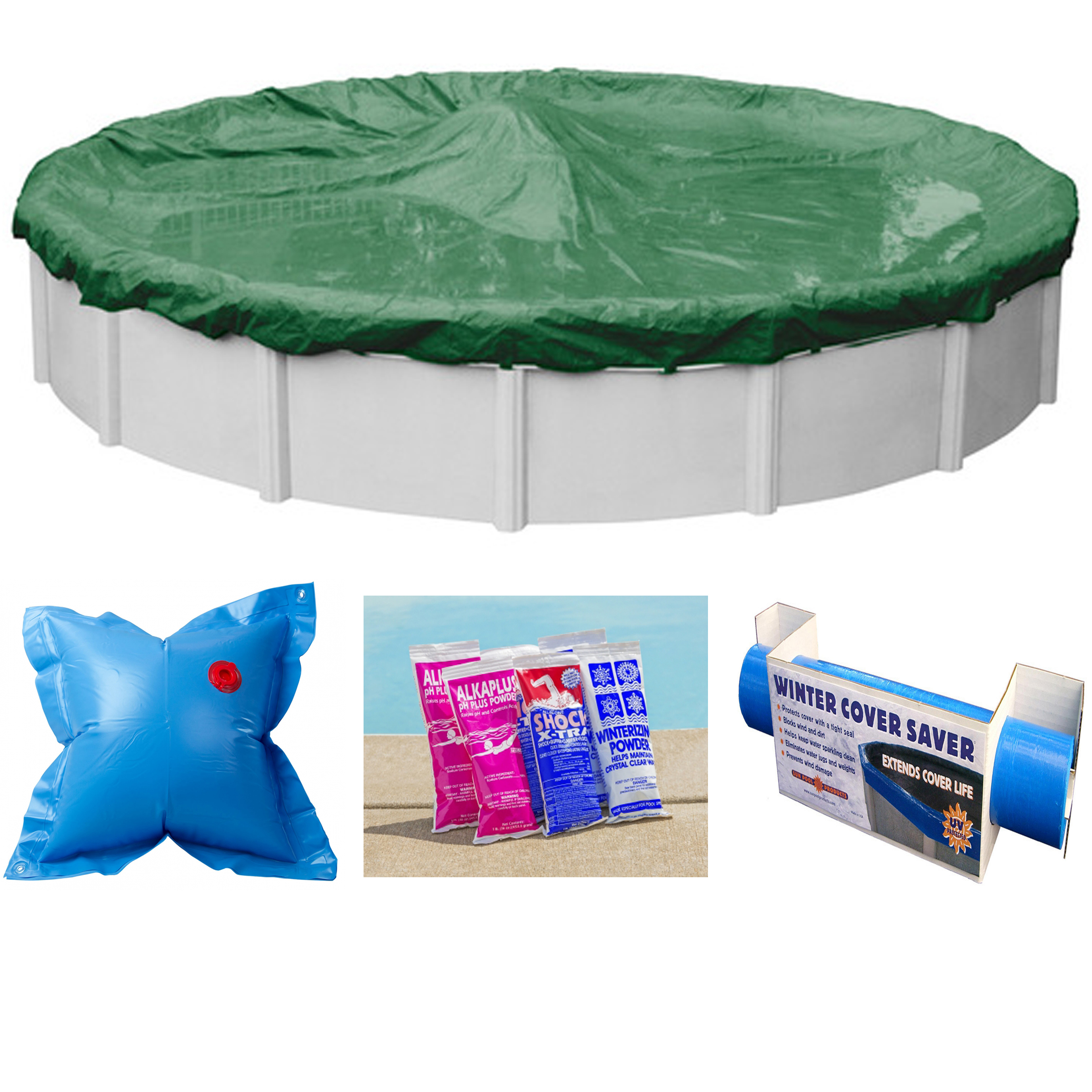 15 39 Round Ripstopper Above Ground Swimming Pool Winter Cover W Closing Kit Ebay