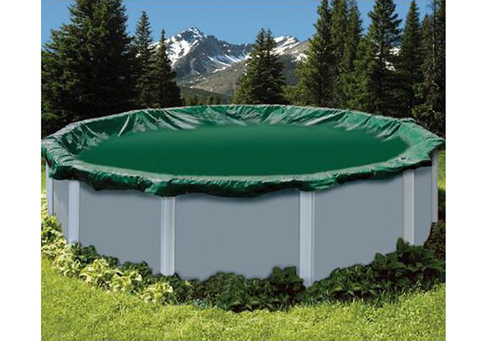 28 39 Ft Round Snow2winter Green Swimming Pool Above Ground Winter Cover Ebay