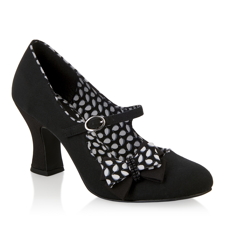 new ruby shoo celia bow shoe low heel mary jane gold black. Black Bedroom Furniture Sets. Home Design Ideas