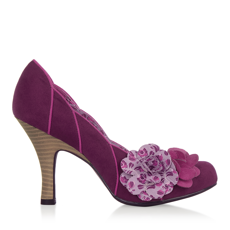 Brown UK3-9 Black Navy Grey NEW Ruby Shoo April Corsage Court Shoe Plum