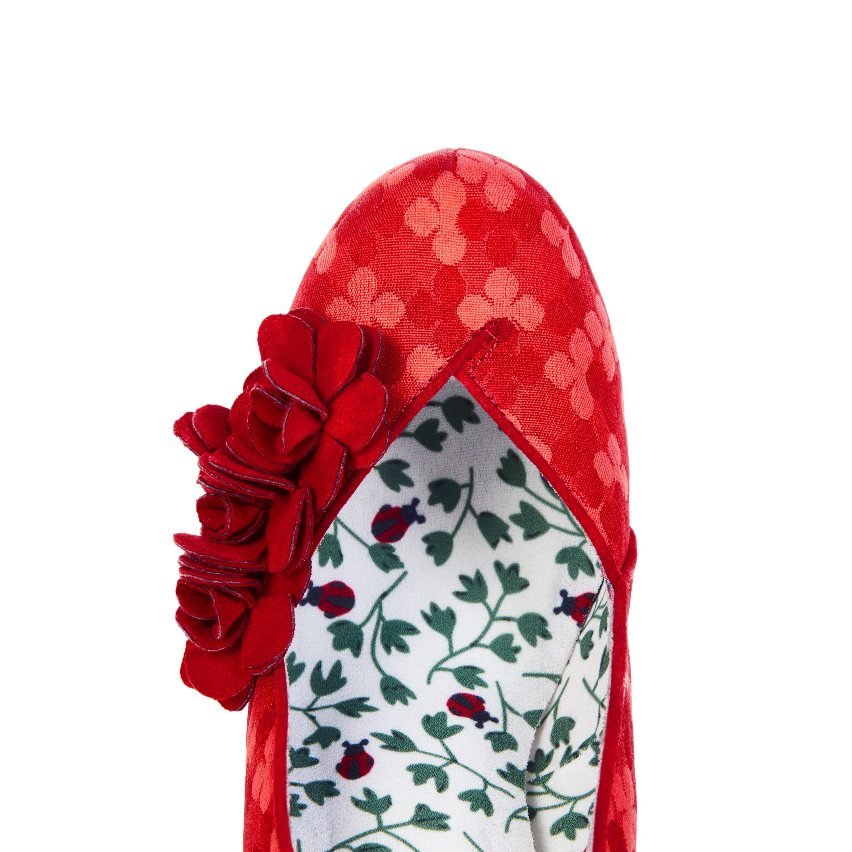 Ruby Shoo Charlotte Lace High Heel Court Shoes UK 3-9 Burgundy Black Red Navy