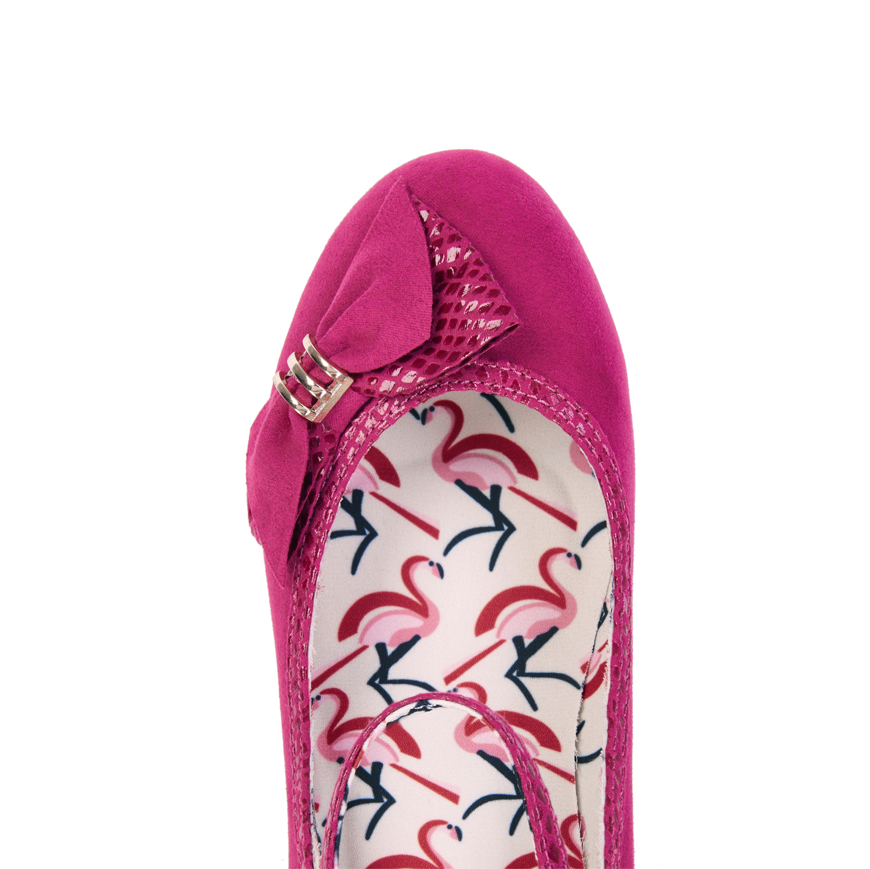 Ruby Shoo Cordelia Low Heel Court Shoes Ankle Strap UK 3-9 Fuchsia Navy Mink
