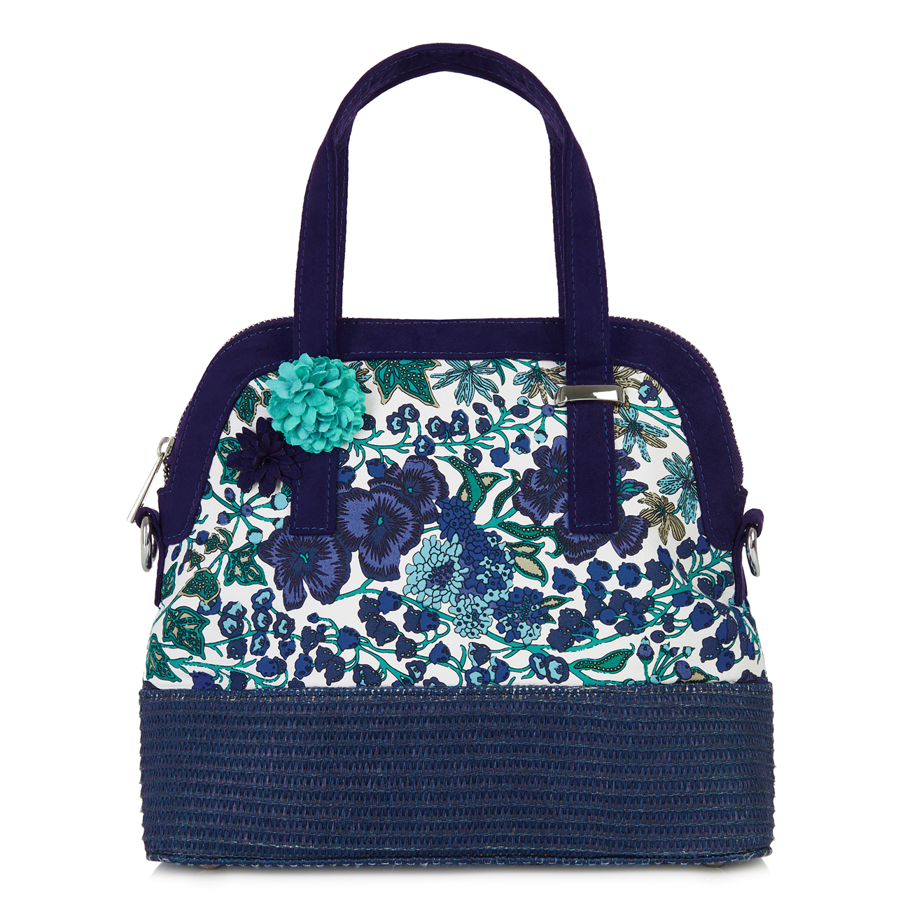 NEW Ruby Shoo Large Curved Lyon Shopper Bag Mango / Blue Floral Flo | EBay