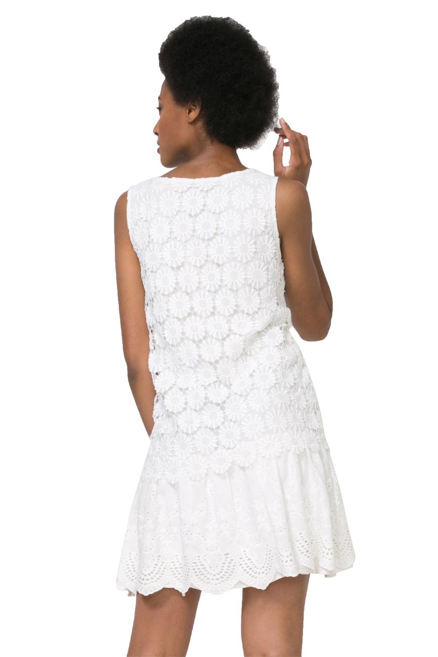 Desigual Broderie Anglais Barcelona Dress 36-46 UK 8-18 RRP?119 White Black
