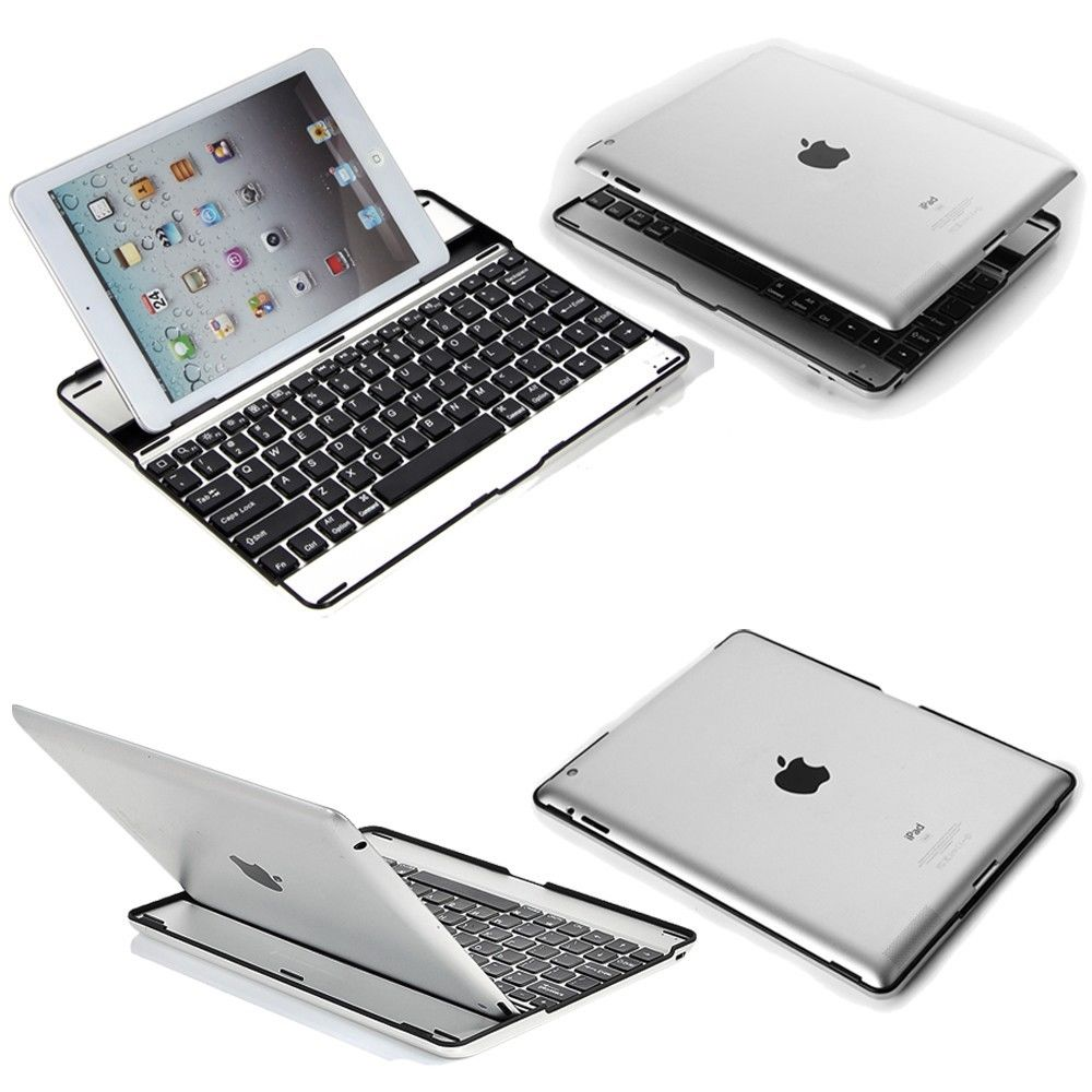 Stand Aluminum Case Cover W/Bluetooth Keyboard For Apple IPad Pro 2 3 4th Air 2