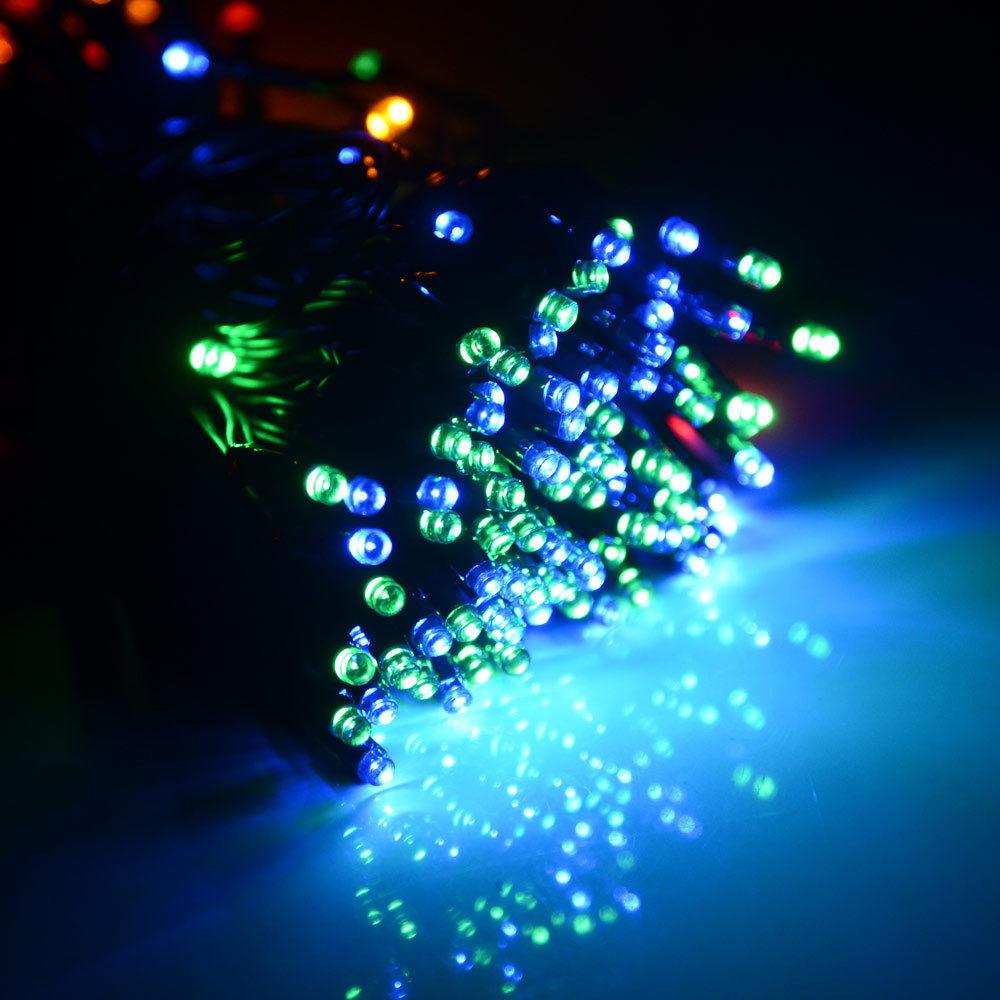 solar powered led string fairy light 72ft 22m 200 leds. Black Bedroom Furniture Sets. Home Design Ideas
