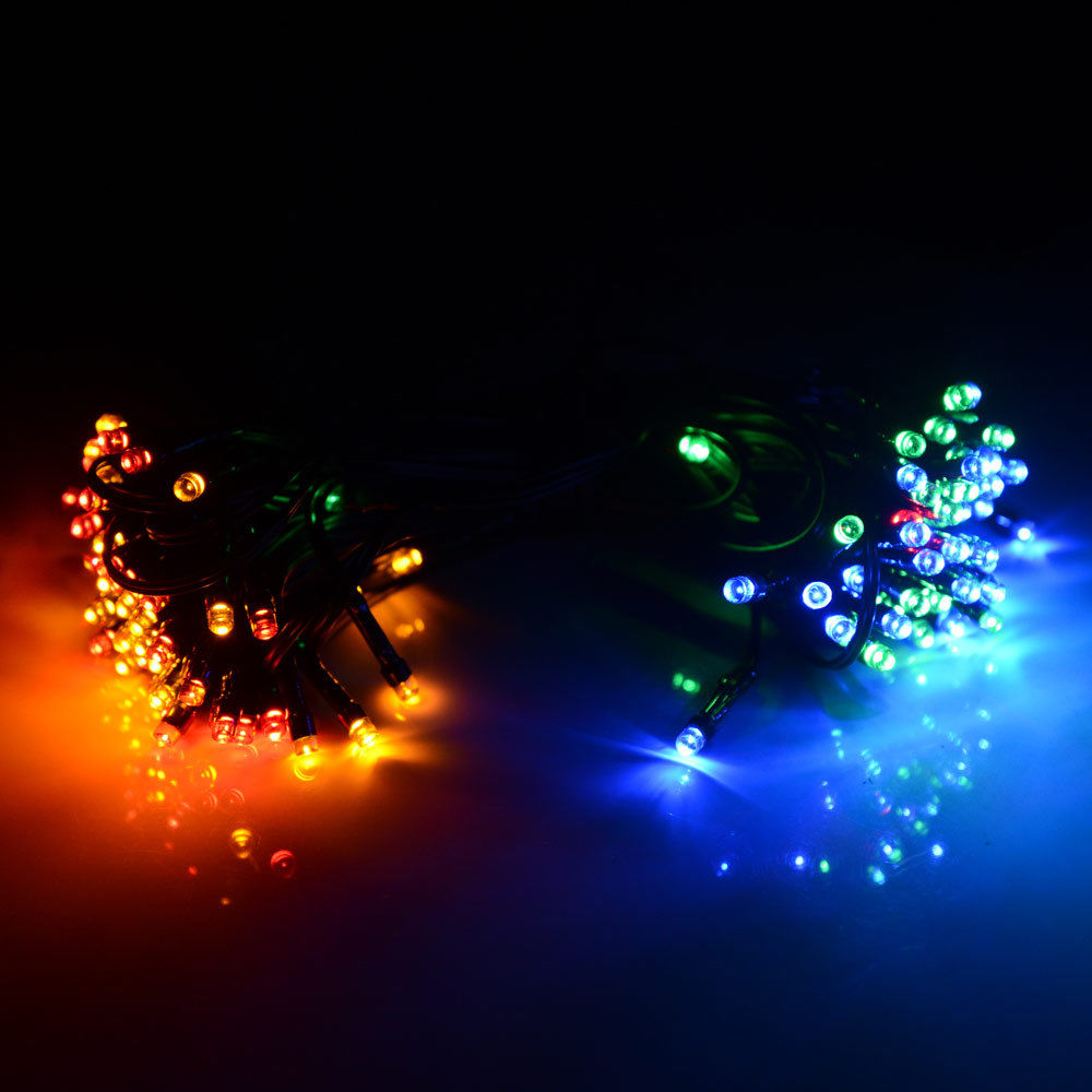 String Lights Outdoor Waterproof : 56ft Solar Powered 100 LED String Fairy Light Waterproof Outdoor Garden Party eBay