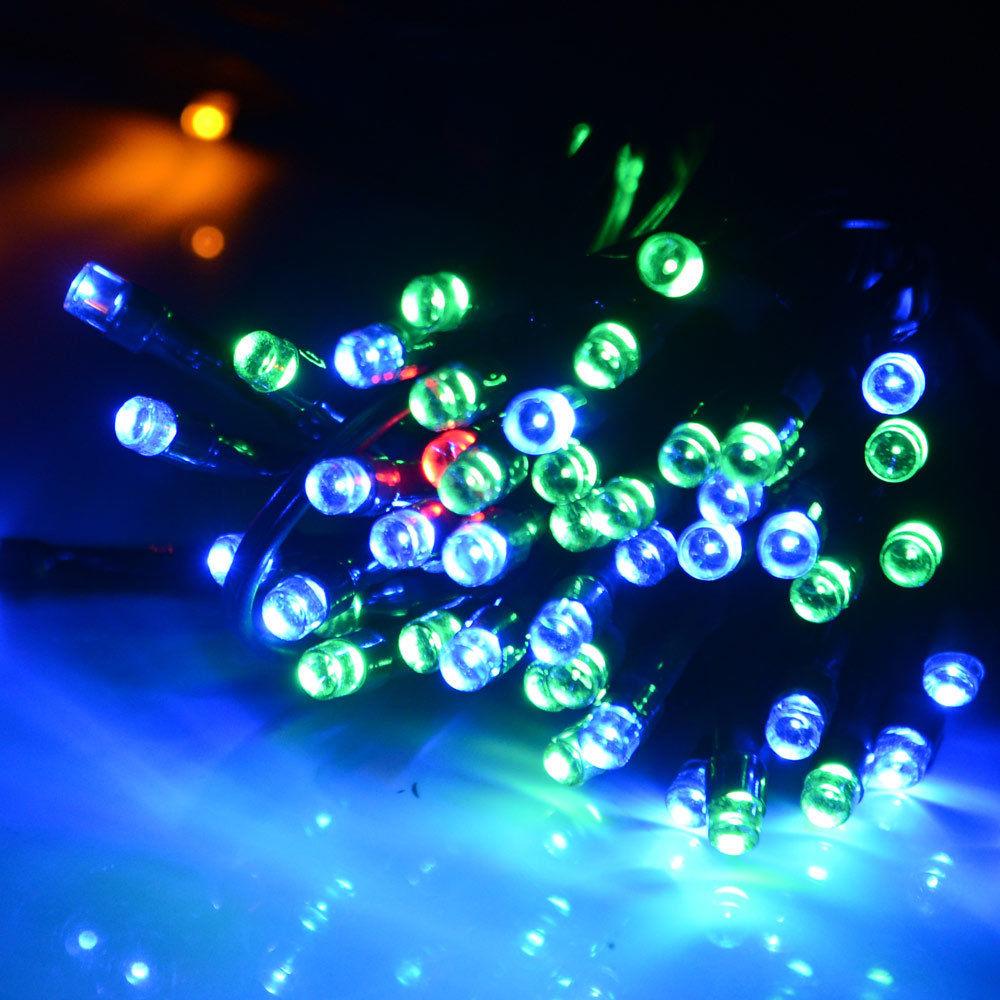 56ft Solar Powered 100 LED String Fairy Light Waterproof Outdoor Garden Party eBay