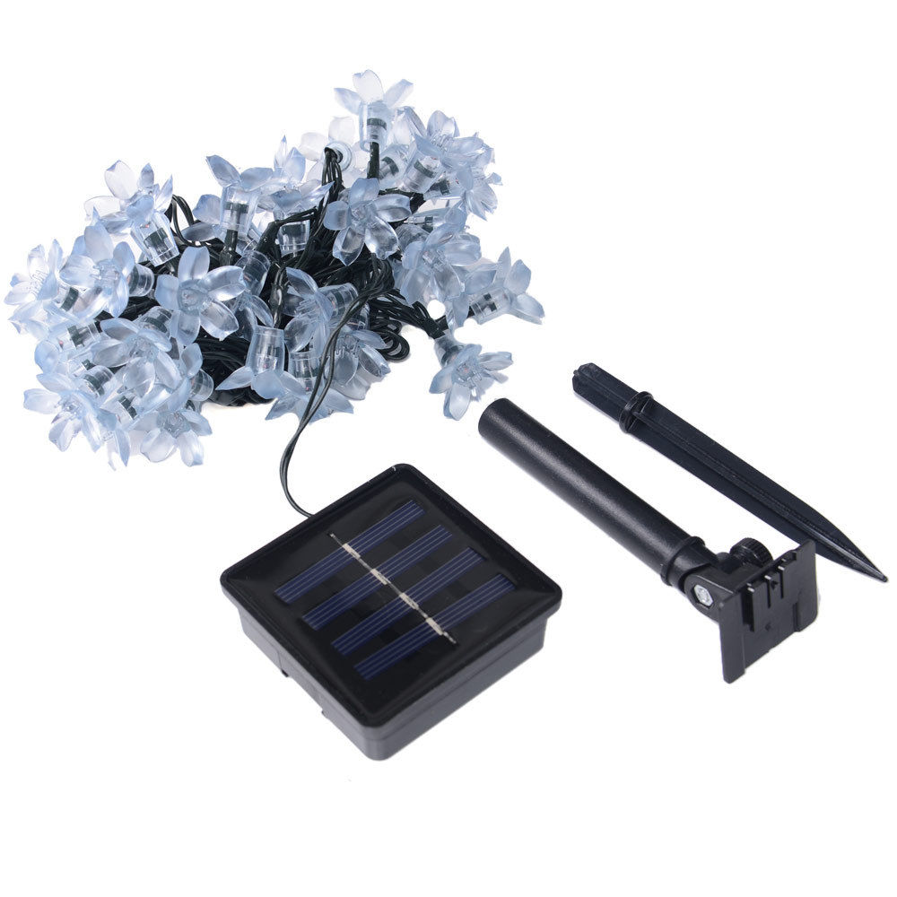 String Lights Outdoor Waterproof : Solar flower shape String Lights Outdoor For Christmas Party Waterproof 50 led eBay