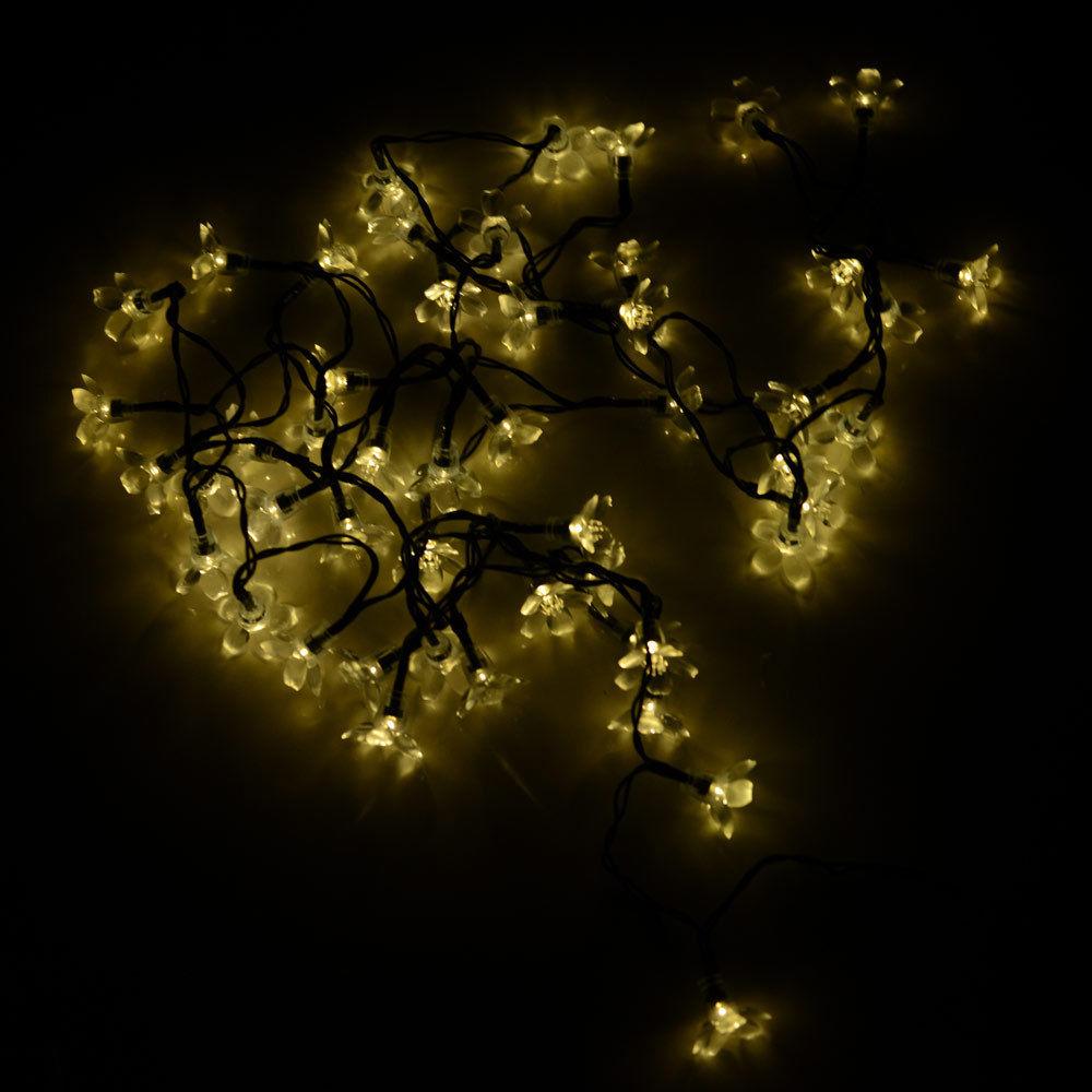 Flower String Lights Outdoor : Solar flower shape String Lights Outdoor For Christmas Party Waterproof 50 led eBay