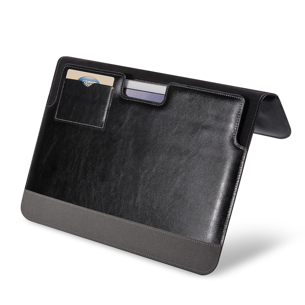 leather laptop sleeve bag cover for apple macbook pro